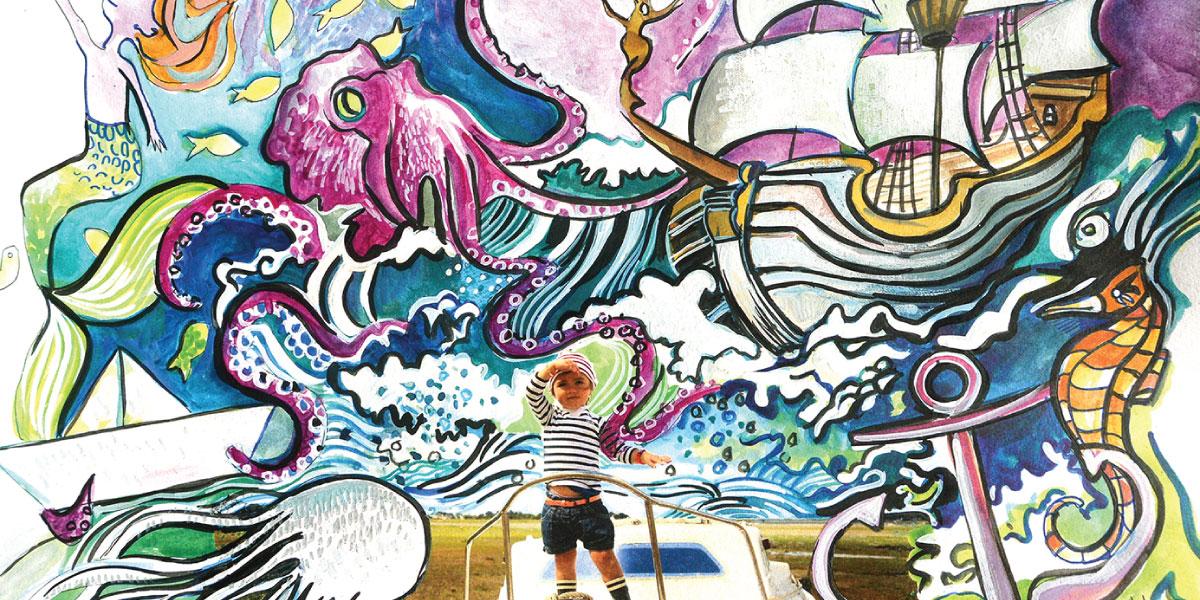 Illustration Il était une feuille au salon du bébé et de l'enfant de Bordeaux ABC kid'z